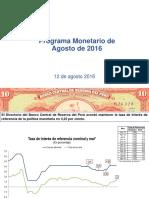 Programa Monetario Agosto 2016