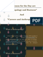 Anthropology Business and Career