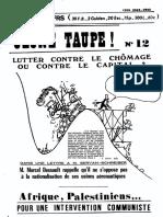 Jeune Taupe 12 Novembre 1976