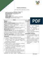 Planificacion Español Trabalenguas