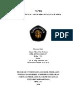 PAPER 1 Organisasi Manajemen