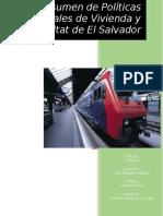 Resumen de Políticas Nacionales de Vivienda y Hábitat de El Salvador