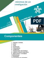 Componentes Minimos de Una Investigación