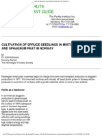 Cultivating Spruce Seedlings Perlite Sphagnum Mixtures Norway