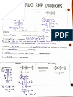 solving 2 step notes