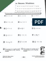 solving 2 step practice