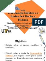 Transposição Didática e o Ensino de Ciências e Biologia - Eduarda Maria Schneider
