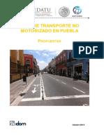 Plan de Transporte No Motorizado Puebla - 4 Propuestas