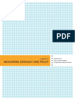 A Guide to Measuring Advocacy and Policy