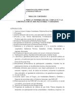 Tabla de Contenido Acuerdo Final Para La Terminación Del Conflicto y La Construcción de Una Paz Estable y Duradera