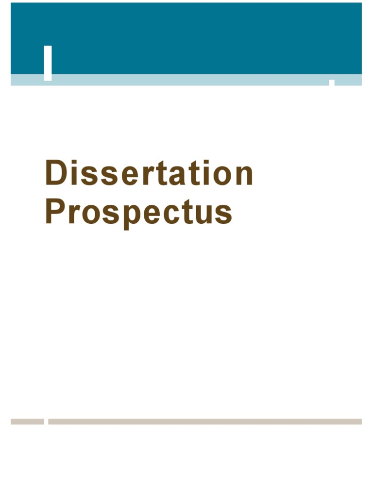Dissertation Prospectus - Dissertation Help Web | Thesis | Research ...
