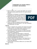 Plan de Gobierno de Pedro Pablo Kuczinsky