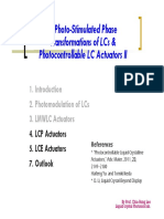 CH3 Photo-Stimulated Phase Transformations of LCs Photocontrollable LC Actuators II 102 最後上課版