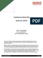 Educational Experience ECA Stock