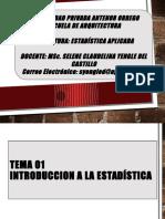 Tema 01 Estadistica