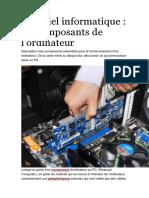 Tema 1 Ordinateur et ses composants-Matériel informatique.docx