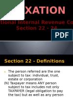 TAXATION SEC 22 Presentation