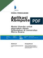 Modul Kuliah 3 - APLIKOM.doc