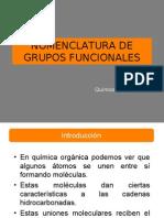 Nomenclatura de Grupos Funcionales