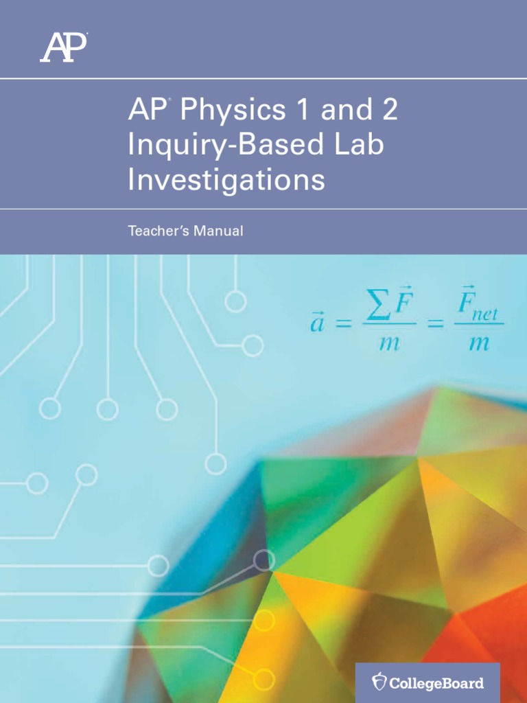 AP Physics Inquiry Based Lab Manual | Inquiry Based Learning ...