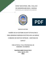 Diseño de Un Sistema Solar Para Generar Energía Eléctrica en El Edificio Infinium 10