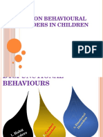 Management of Behavioural Disoder of Children