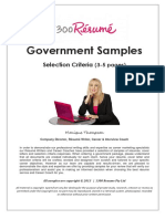 GOVERNMENT SAMPLES - Selection Criteria 3-5 Pages