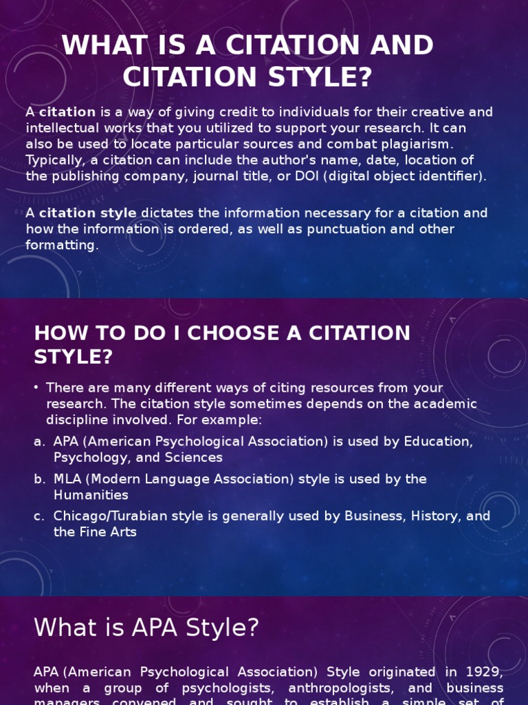 citation style Most common citation guides: apa, mla, chicago/turabian  harvard style: a generic name for author-date style for citing and referencing, not.