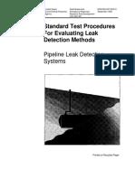 Pipeline Leak Test Procedure