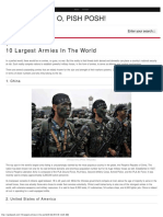 10 Largest Armies in the World