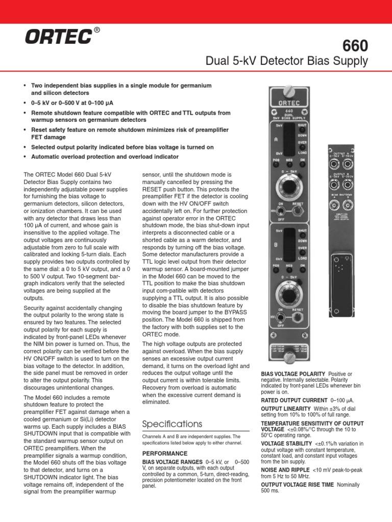 660 Switch Power Supply Dual Voltage Supplies