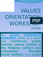 Values Orientation Workshop