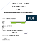 THE USE OF FOUNDRY IN NATION BUILDING