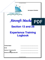 Aircraft Mechanic Section 13 & 28 Logbook