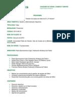 Programación Seminario Gestion Deportiva clubs 2ªB y 3ª - IAD