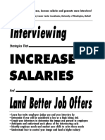 Interview Strategies the Increase Salaries