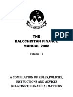 The Balochistan Finance Manual 2008 Vol-I