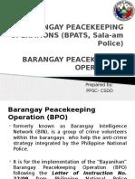 BARANGAY PEACEKEEPING OPERATIONS (BPATS, Sala-am Police.pptx
