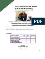 Riesgoslaboralesycoberturaenlaempresacalzadosjaguars a c Detrujillo2012 130617122539 Phpapp01