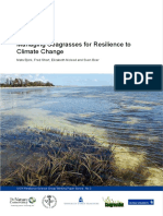 Bjork Et Al, Managing Resilience of Seagrass for Climate Change