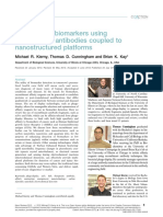 Detection of Biomarkers Using Recombinant Antibodies Coupled to Nanostructured Platforms