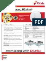 Kidde Wireless Ionization Smoke Alarm