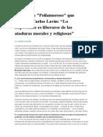 Entrevista a Carlos Lavín