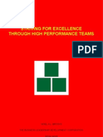 Striving For Excellence Through High Performance Teams