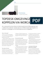 TOPdesk-omgevingen koppelen via Worcade