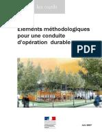 Éléments méthodologiques pour une conduite d'opération durable CERTU