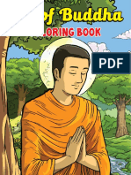 English Life of Buddha - Coloring Book