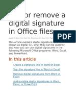 Digitalni Potpis u Wordu