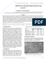Effect of Sb-si Addition on Necking Behaviour of Mg Alloys
