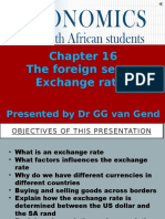 ECS1601 Chapter 16 Narrated Slides Foreign Sector Exchange Rates